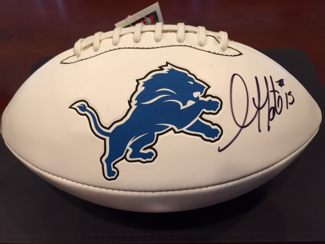 Golden Tate Signed Football